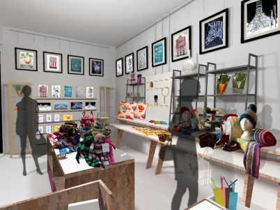 Made-Here Pop-up Shop interior design