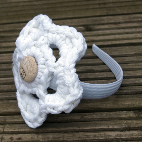 Linziloop-Cotton-Crochet-Headband-White