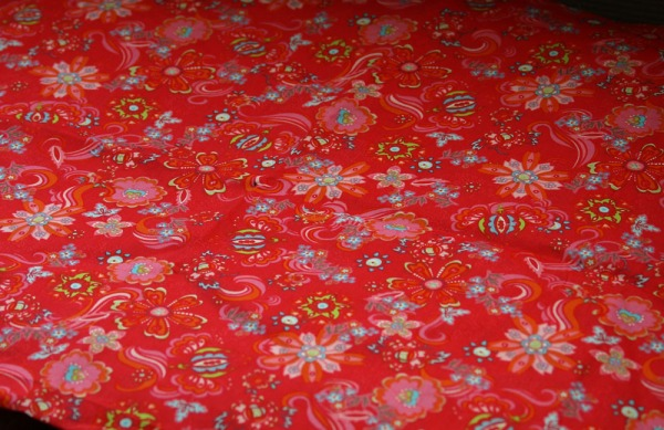 Bright floral detail fabric