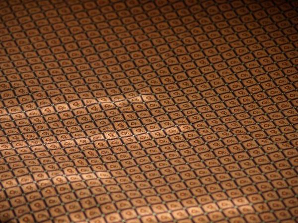 Orange vintage fabric