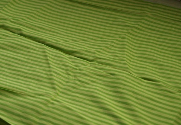 Stripey green fabric