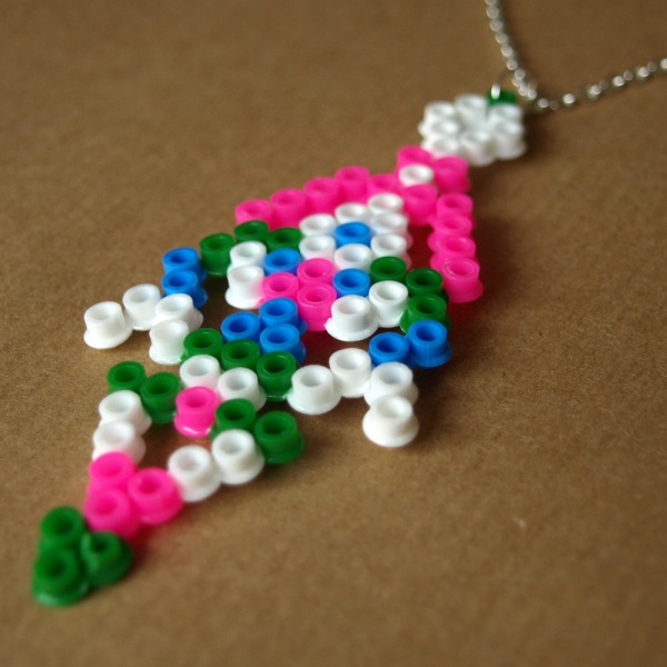 Pixel Tribal Inspired Hama Bead Necklace