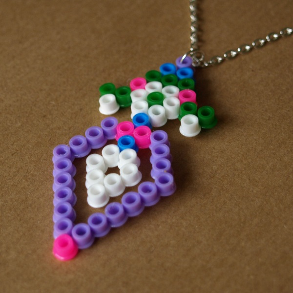 Pixel Diamond Candy Hama Bead Necklace