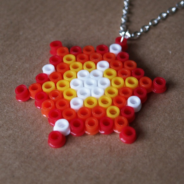Pixel Explosion Hama Bead Necklace