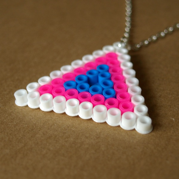 Pixel Triangle Hama Bead Necklace